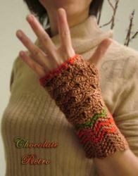 Chocolate Retro fingerless gloves (CH0263K)