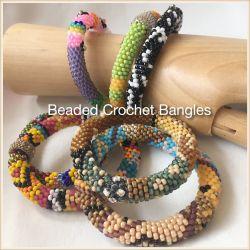Beaded Crochet Bangles - a bazaar of bangles CH0407