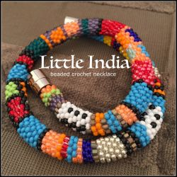 Little India beaded crochet necklace (CH0409) (SOLD)