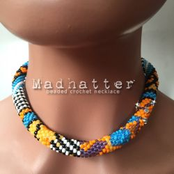 Madhatter beaded crochet necklace - CH0406N