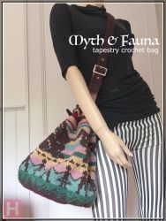 Drawstring Tapestry Crochet Bag - Myth & Fauna (CH0418)