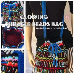 Glowing Miracle Beads Bag - Tapestry Crochet (CH0419)