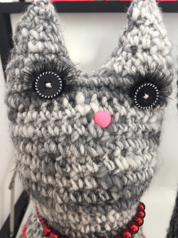 Isn't he cute! For my mam's birthday. Cat doorstop from Woman's ...   1000x750