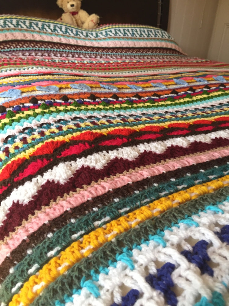 Crochet Afghan Blanket - for Bev, CH0499 ・ClearlyHelena